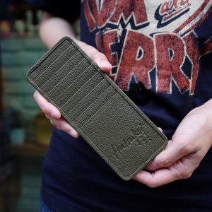 Long Card case, Green Tea
