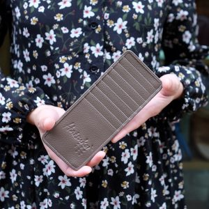 Long Card case, Rosy Brown